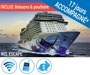 New York - NCL Escape 14 jours Caraïbes + 3 jours NY